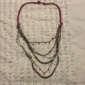 Long multi layer necklace